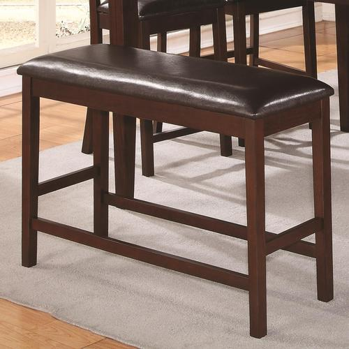 Dunham Counter Height Dining Bench With Vinyl Cushioned Seating