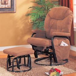 Recliners with Ottomans Deluxe Swivel Glider with Matching Ottoman