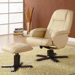 Recliners with Ottomans Contemporary Recliner with Matching Ottoman