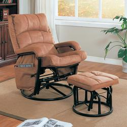 Recliners with Ottomans Glider Recliner with Matching Ottoman