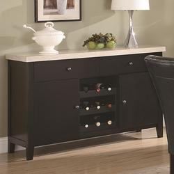 Anisa Dining Server with Wine Rack