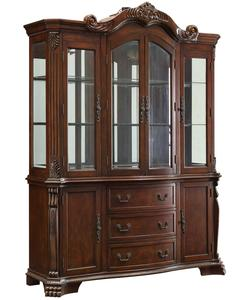 Marisol Buffet & Hutch with Ornate Carved Detailing and Mirrored Back