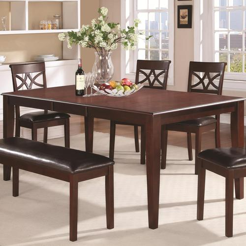 Coaster Lexton 101561 Rectangular Dining Table With 18: Coaster Dunham Versatile Rectangular Dining Table With 18