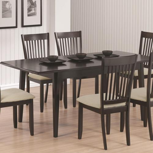 Rectangular Dining Room Tables With Leaves: Coaster Dining Rectangular Dining Table With 15' Extension