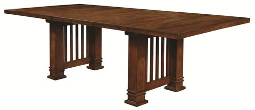 Beaumont Mission Style Dining Table With 2 Leaves