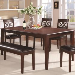 Dunham Versatile Rectangular Dining Table with 18' Extension Leaf