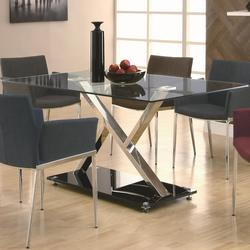 Dining 120 XY Dining Table with Chrome Base