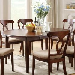 Liam Oval Top Formal Dining Table with 22' Extension Leaf and Drop Leaves