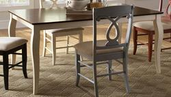 Holland Two-Tone Rectangular Dining Table with Cabriole Leg