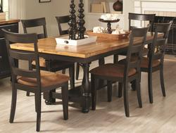Charlotte Rectangular Dining Table with Block Legs and Bun Feet