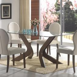 San Vicente Glass Top Rectangular Dining Table