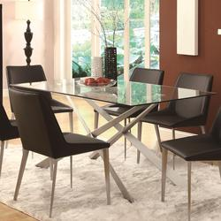 Anderson Contemporary Glass-Topped Dining Table