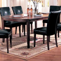 Soho Cherry Finish Dining Table with 18-inch Leaf