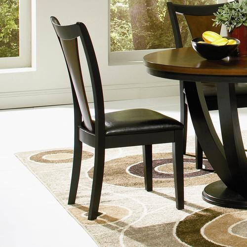coaster boyer side chair with upholstered seat