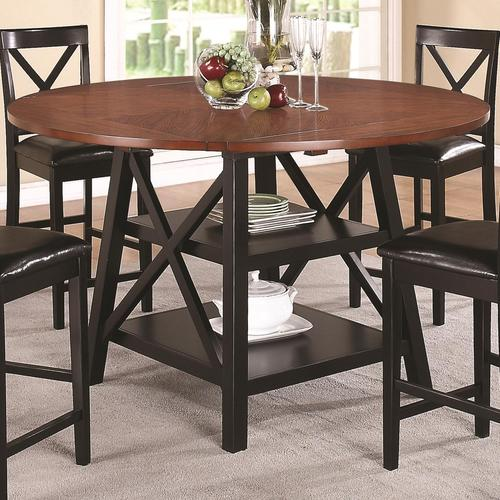 Coaster Austin Counter Height Table With Two Shelves - Counter height table for two