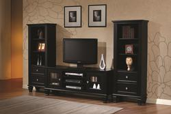 Wall Units Black Entertainment Wall Unit