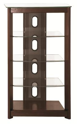 Wall Units Media Tower w/ Glass Shelves