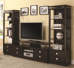 Wall Units TV Console & 2 Media Towers