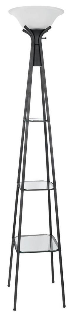 Floor Lamps Torchiere Floor Lamp with Clear Glass Shelving
