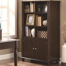 Jacqueline Three Tiered Bookshelf with Cabinet