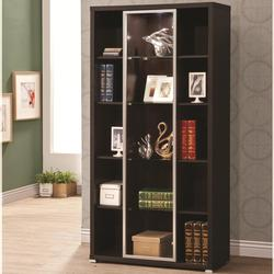 Accent Cabinets Lit Display Cabinet with Glass Door Front