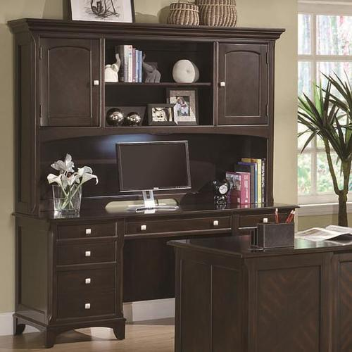 Coaster Garson Credenza With Hutch With Task Light