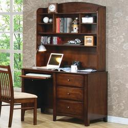 Hillary and Scottsdale Single Pedestal Youth Computer Desk with Hutch