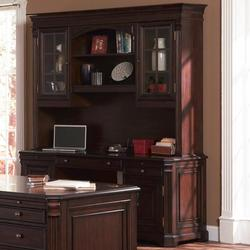 Cherry Valley Traditional Kneehole Computer Credenza and Hutch