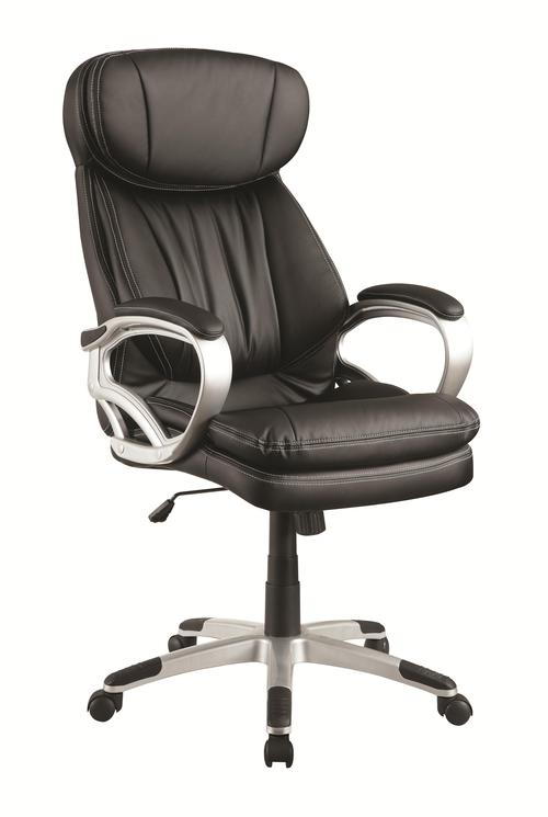 Coaster Office Chairs Black Office Chair W Headrest