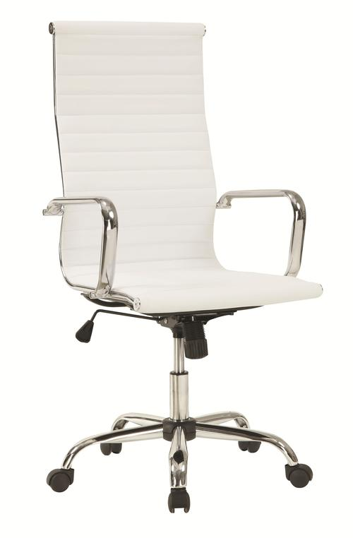 High Office Chairs coaster office chairs sleek high back office chair