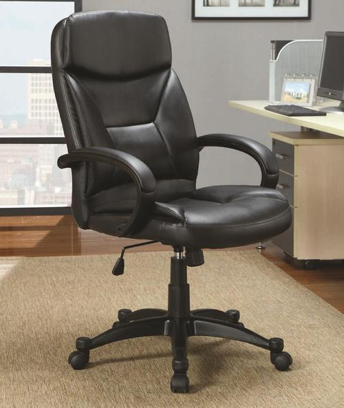 coaster office chairs contemporary upholstered black executive chair