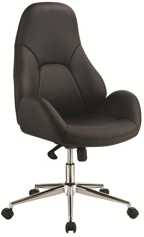 Coaster Office Chairs Black Office Chair With Swivel Base Casters And Adjust