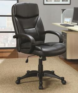 Office Chairs Contemporary Upholstered Black Executive Chair