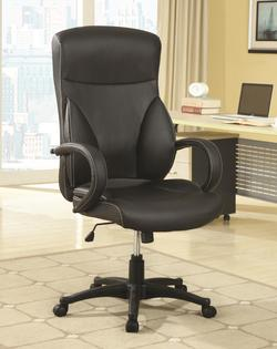Office Chairs High Back Executive Office Chair with Adjustable Seat Height and Vinyl Upholstery