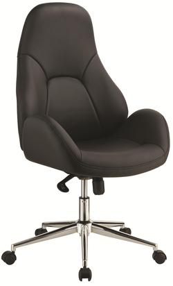 Office Chairs Black Office Chair with Swivel Base, Casters and Adjustable Height