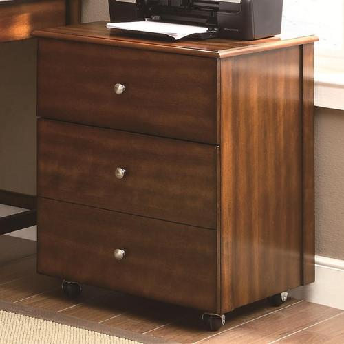 Coaster Jacqueline 3 Drawer Cabinet With Wheels