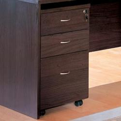 Decarie Contemporary File Cabinet with Casters