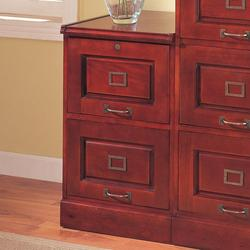 Palmetto Cherry File Cabinet with 2 Drawers