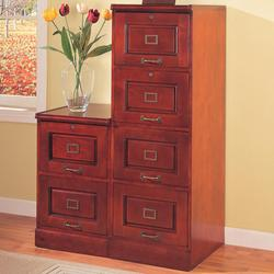 Palmetto Cherry File Cabinet with 4 Drawers