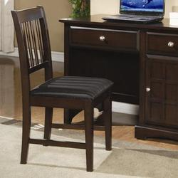 Jasper Armless Office Side Chair with Slat Back