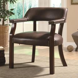 Office Chairs Traditional Vinyl Office Side Chair with Nailhead Trim