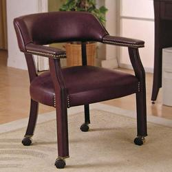 Office Chairs Traditional Upholstered Side Chair with Nailhead Trim