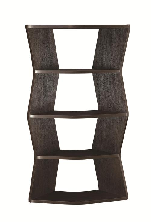 Coaster Bookcases Contemporary Bookshelf With 4 Angled Shelves