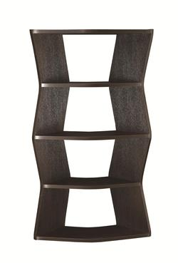 Bookcases Contemporary Bookshelf with 4 Angled Shelves