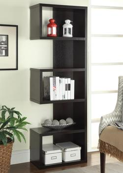 Bookcases Cappuccino Semi-Backless Bookshelf