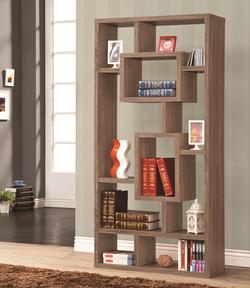 Bookcases Geometric Cubed Rectangular Bookshelf