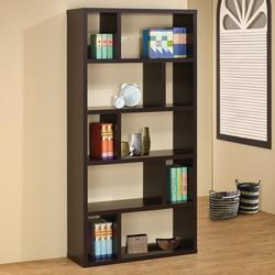 cart add to bookshelf asymmetrical bookcases shelves coaster with contemporary