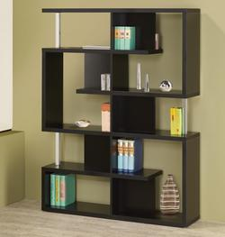 Bookcases Modern Black Finish Bookcase
