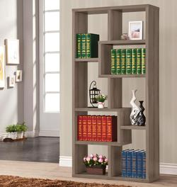 Bookcases Multiple Cubed Rectangular Bookcase, Weathered Grey