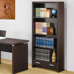 Skylar 4 Shelf Bookcase with Storage Drawer